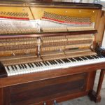 Harbourne Upright Piano alt. view with front cover removed