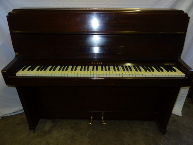 Knight Upright Overstrung Piano in Mahogany Case