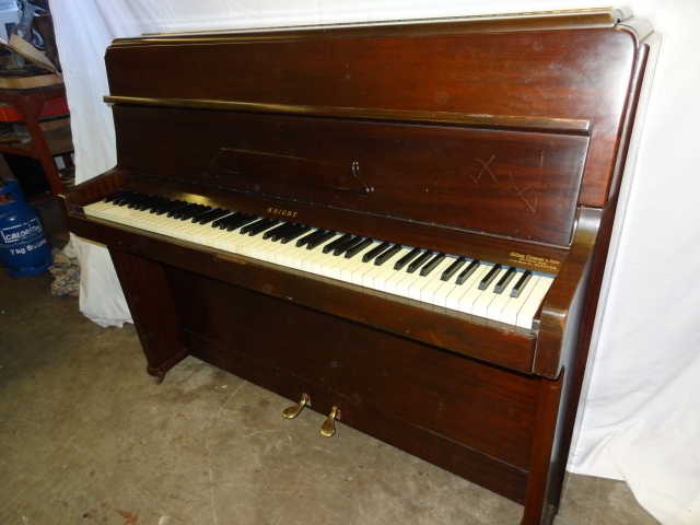 Knight Upright Overstrung Piano in Mahogany Case 2