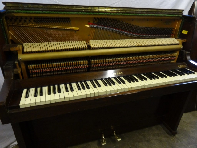 Knight Upright Piano in Mahogany Case 6