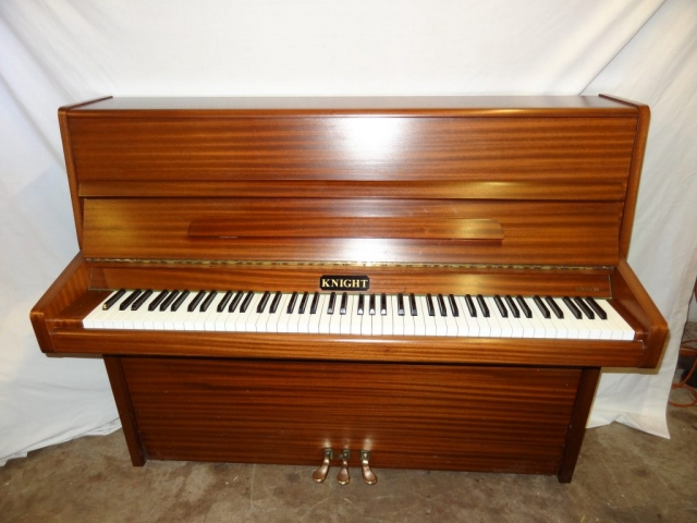 Knight K10 Upright Piano in Mahogany Case 2