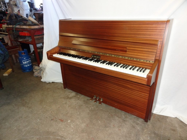 Knight K10 Upright Piano in Mahogany Case 3