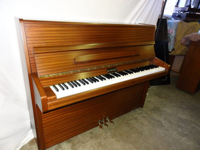 Knight K10 Upright Piano in Mahogany Case 4