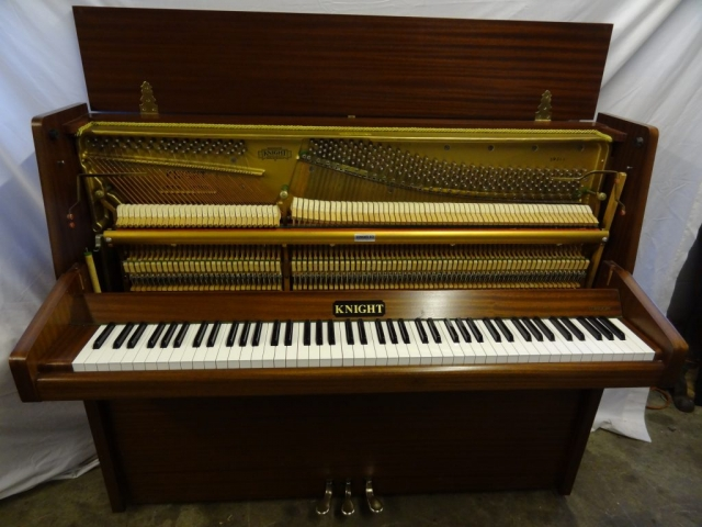Knight K10 Upright Piano in Mahogany Case 8