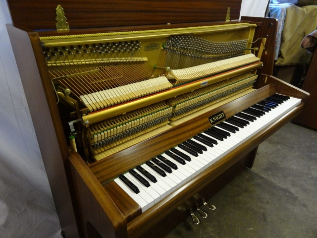 Knight K10 Upright Piano in Mahogany Case 9