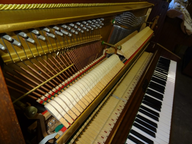 Knight K10 Upright Piano in Mahogany Case 12