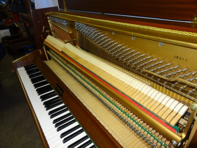 Knight K10 Upright Piano in Mahogany Case 13