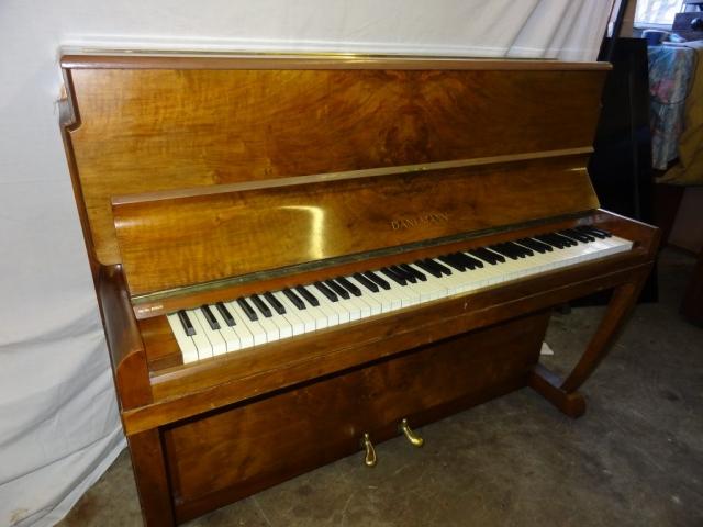 Danemann Walnut Upright Piano Image Art Deco